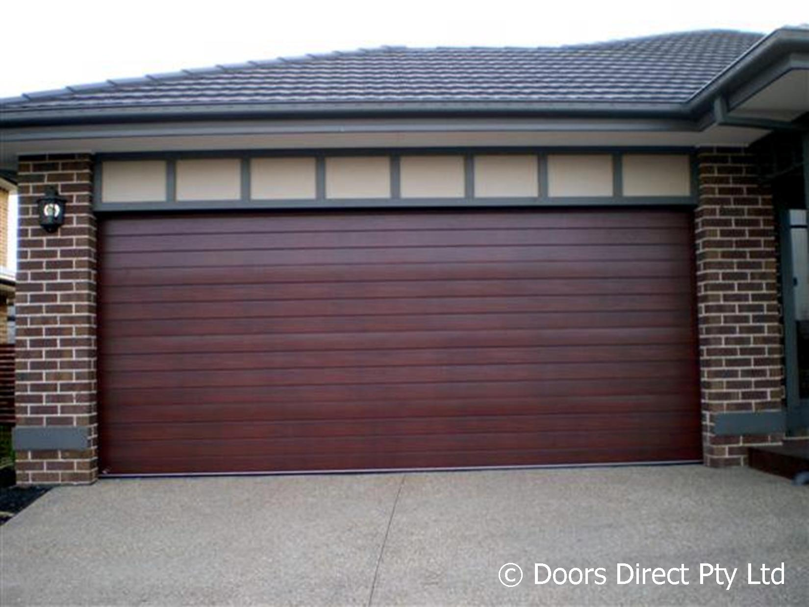 1239 #525E79 GALLERY > Sectional Doors – Timber Look image Overhead Doors Direct 38431650