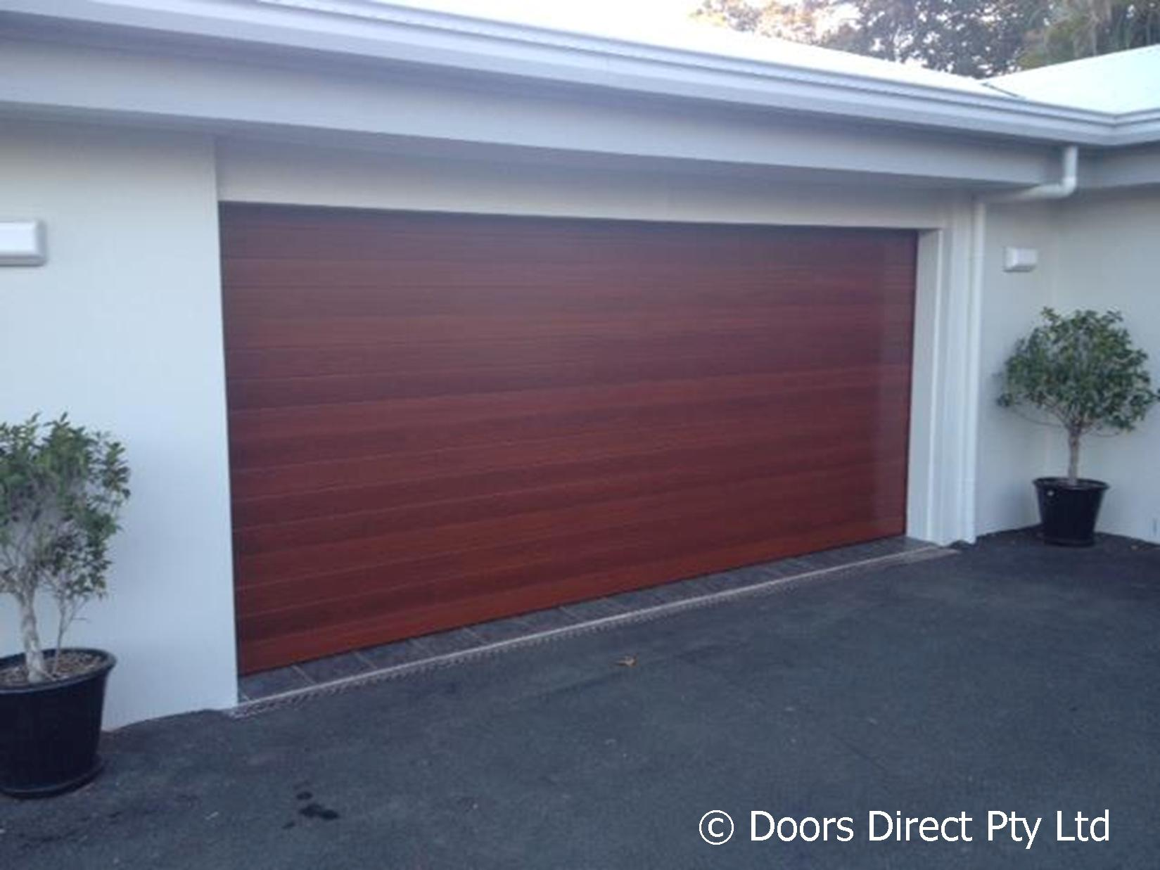 1237 #41628A Seville Sectional Timber Coat Jarrah Colour pic Residential Garage Doors Direct 38211649