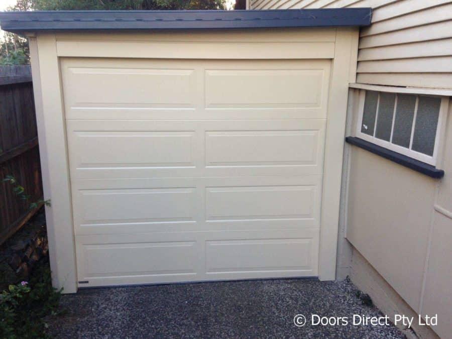 Hampton Classic Cream sectional door with side and head steel work